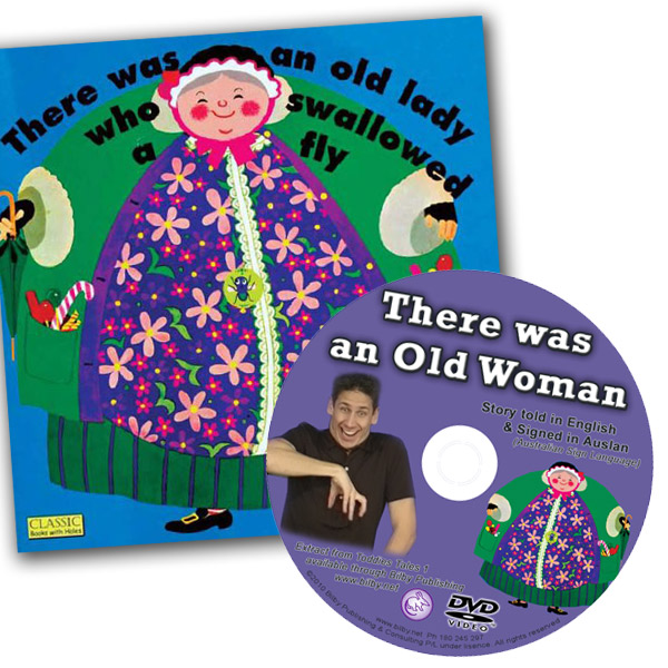 Old Woman Who Swallowed a Fly - Book and Auslan DVD Set - Auslan DVDs for Entertainment