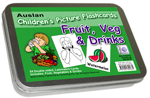 Auslan Childrens Flash Cards 1 - Fruits, Vegetables, Drinks