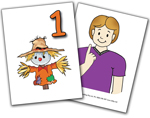 Auslan Flashcards - Beginner Numbers (1 to 10 and simple maths)