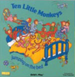 Ten Little Monkeys - Peek-A-Boo Big Book - by Childs Play