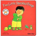 5 little speckled frogs - Board Book - AUSLAN EDITION