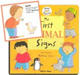 Child's Play - My First Animal Signs - with auslan insert sheet for signs that differ from BSL