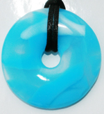 Chew Necklace : Blue Marble