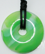 Chew Necklace : Green Marble