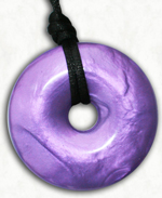 Chew Necklace : Purple Pearl