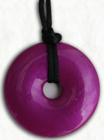 Chew Necklace : Violet Pearl with Grape Scent