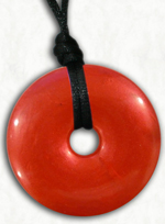 Chew Necklace : Red Pearl with Stawberry Scent