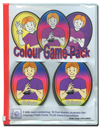 Colour Card DOUBLE GAME Pack - including 4 sets of colour cards - within slide zip lock bag