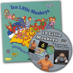 10 Cheeky Monkeys Book and Auslan DVD Set